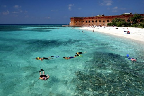 florida keys key west fort jefferson dry tortugas blue green water