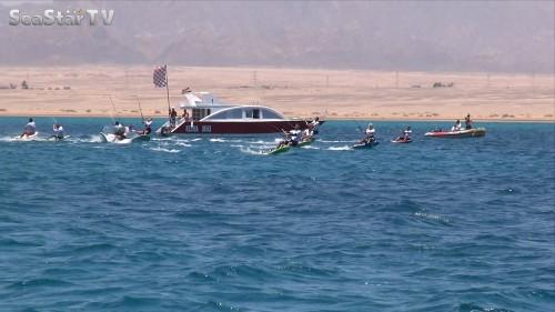 African Kite Championships Soma Bay 2014 Day 4 crash at start Copyright SeaStarTV