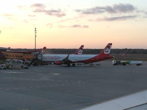 Airberlin am Boden  am Flughafen Tegel, Foto: Flying Media