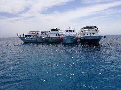 Tauchboote beim Watersport Event von Turkish Airlines