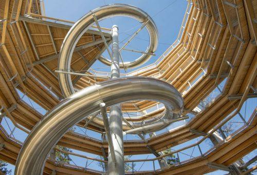 Neu eingebaut: Die Tunnelrutsche ist 55 Meter lang © Erlebnis Akademie AG
